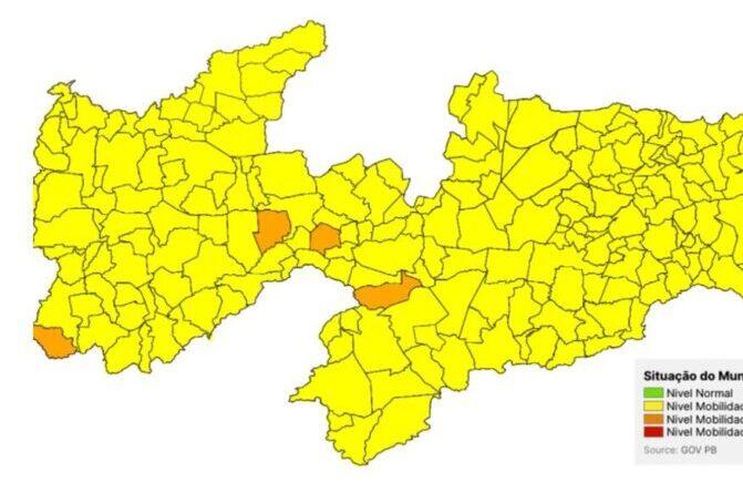 Novo Normal PB: apenas quatro municípios se mantêm na bandeira laranja e Estado deve ampliar flexibilizações